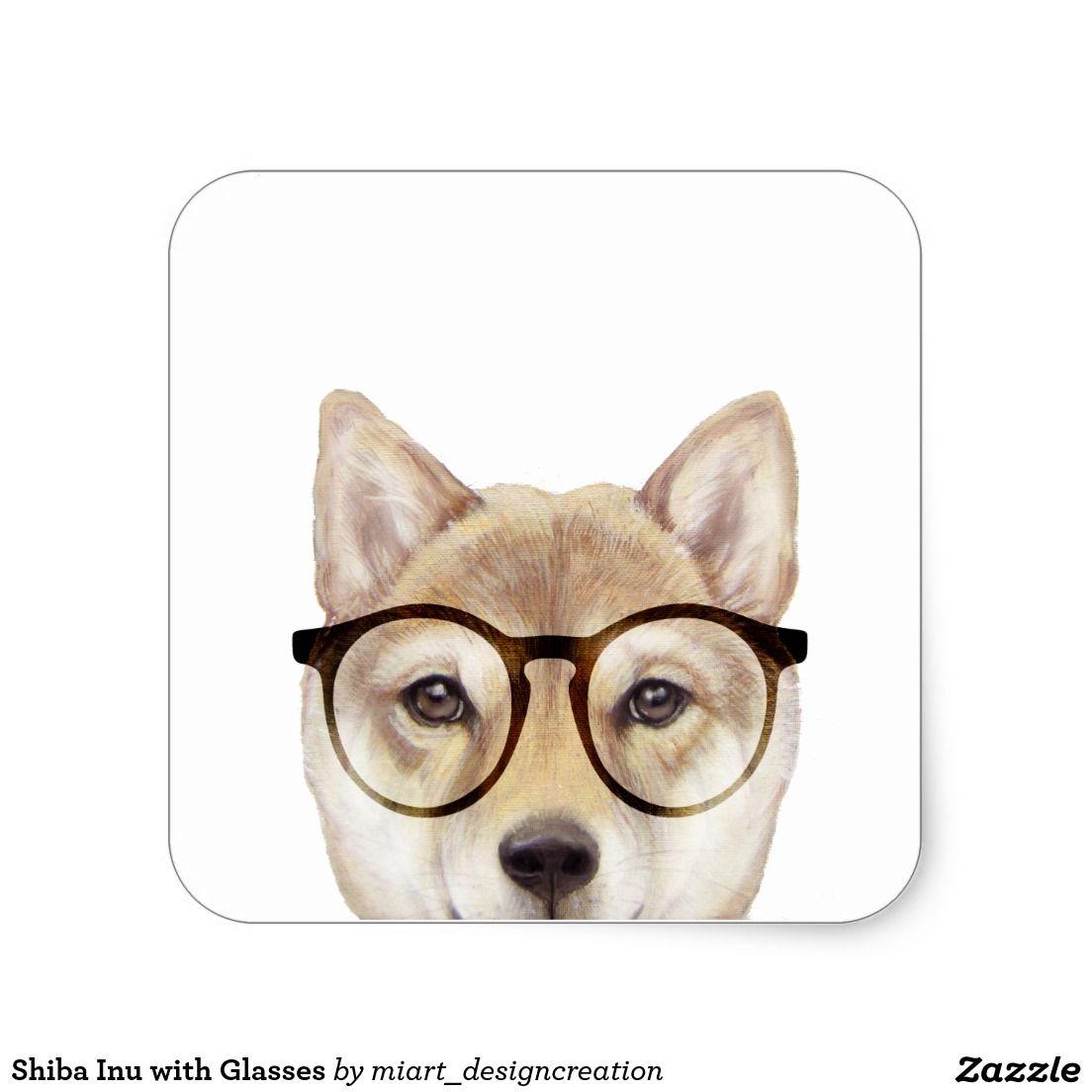 Shiba Inu With Glasses Dog Stickers Shiba Inu Shiba