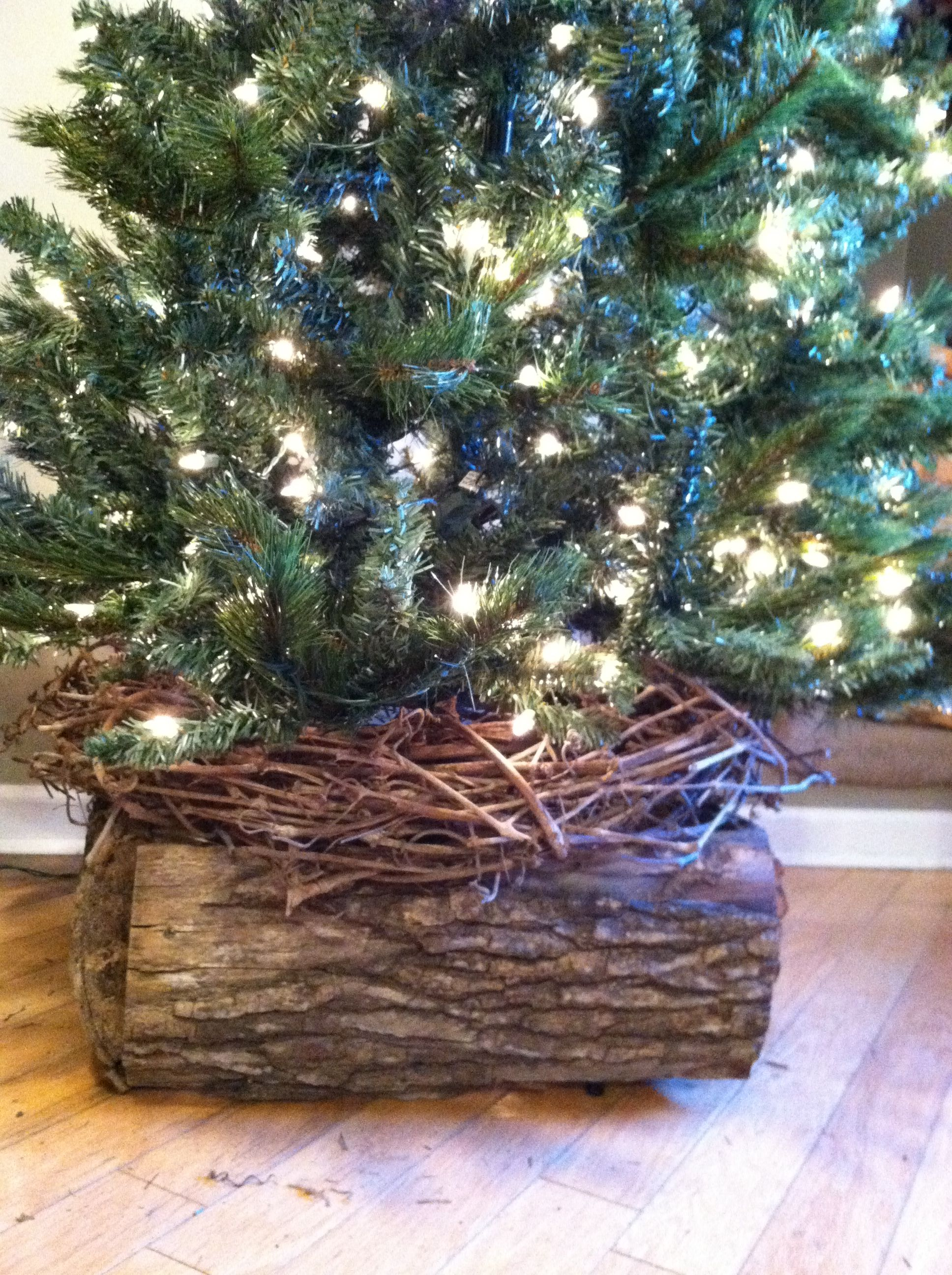 Christmas Tree Skirt Alternative Made From Rustic Wood No More