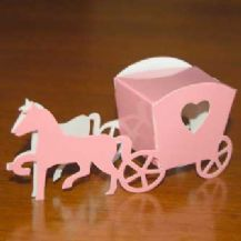 Horse   Carriage Wedding Favour Box - Pink - WAS 40p  0f3b103f3