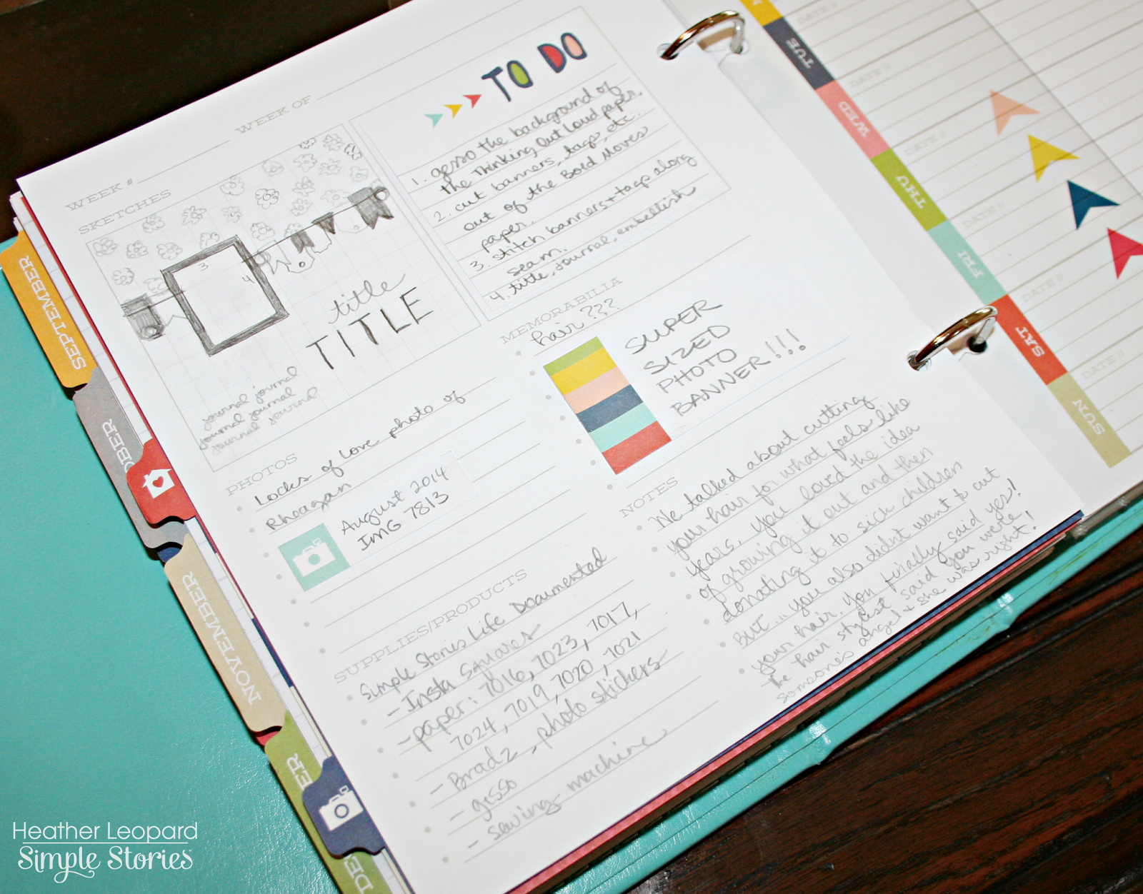 How to scrapbook good - The Good Life Layout Sketch Planner Scrapbook Layout Heather Leopard Simple Stories Simplestories