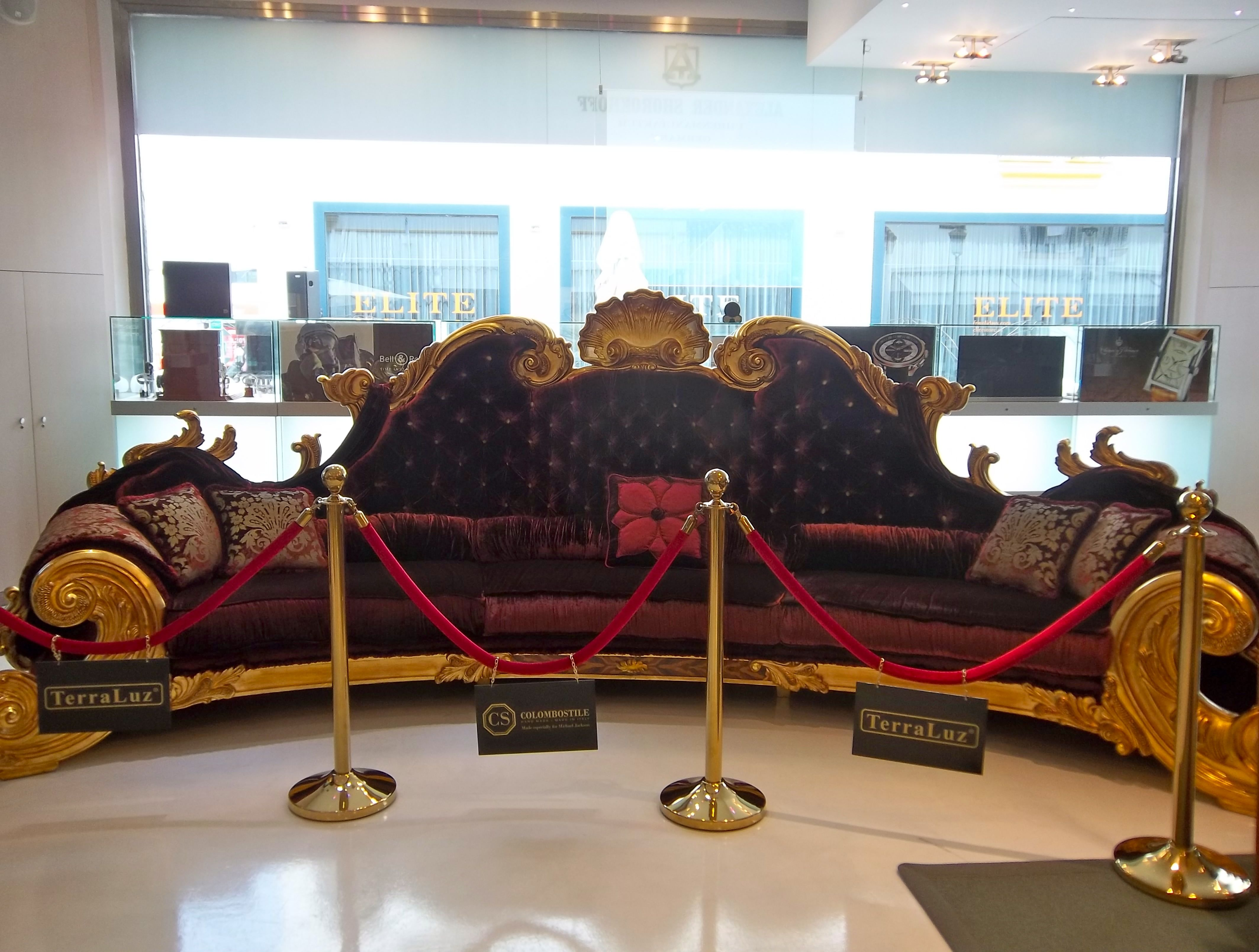 Michael Jackson Sofa In Marbella LW