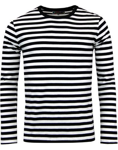 e0bd1e5a5dd Retrorocket Retro 1960s Mod Stripe Long Sleeve T-Shirt from Madcap England