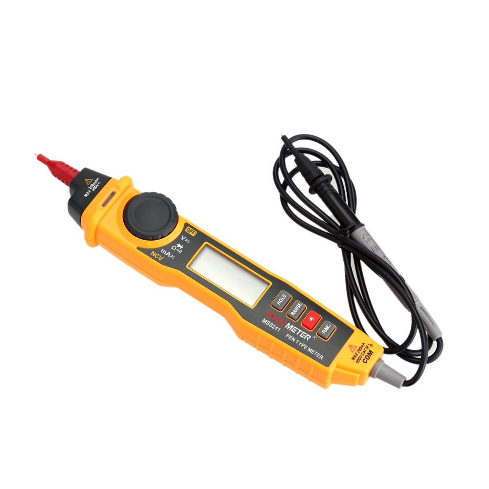 Hyelec Ms8211 Pen Type Digital Multimeter With Nvc Non Contact Dc Ac Wholesale Multifunctional Circuit Tester Voltage Detector Current Continuity Measurement Auto Manual Range Data Hold