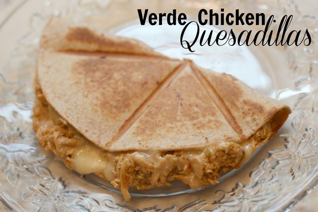 Verde Chicken Quesadila's Weight Watchers friendly