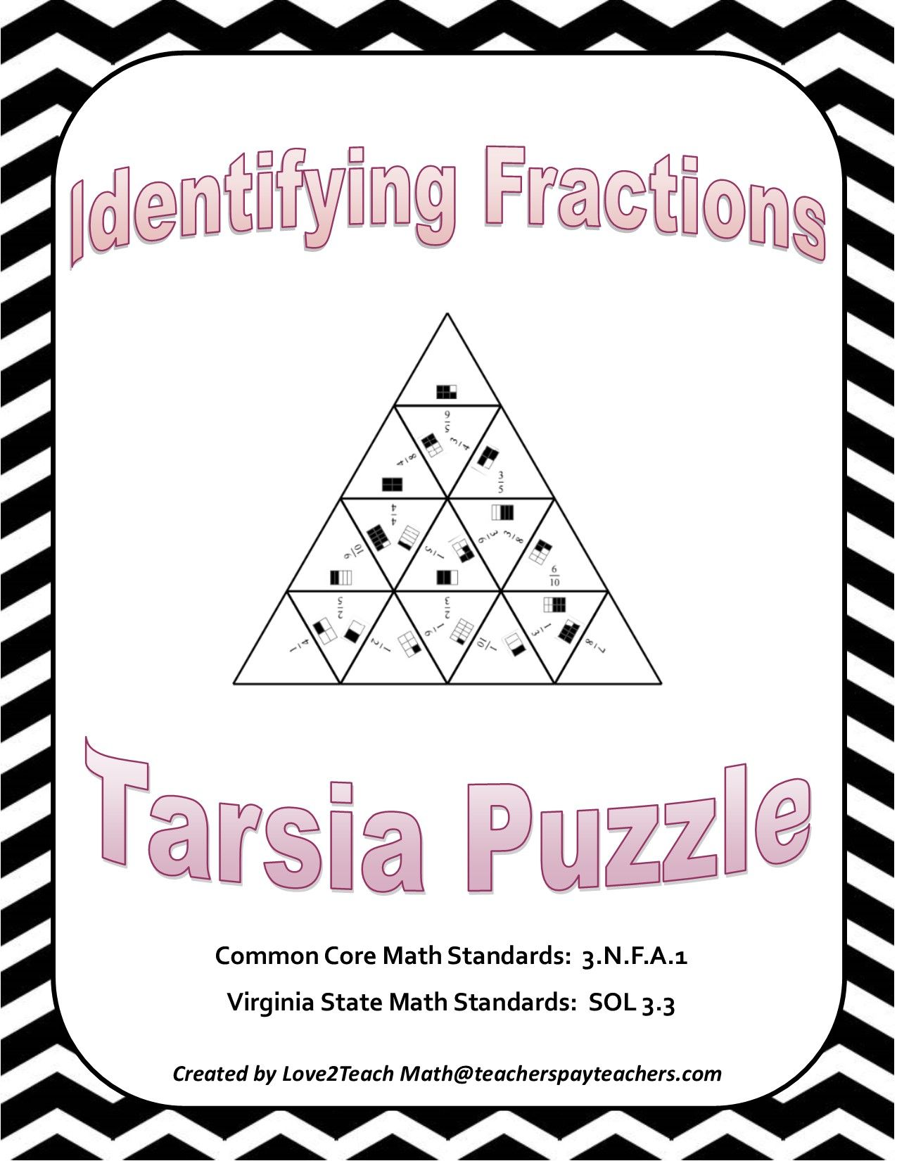 Identifying Fractions Tarsia Puzzle