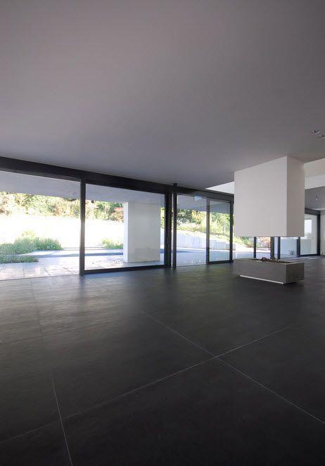 carrelage en gr s c rame aspect b ton concrete graphite. Black Bedroom Furniture Sets. Home Design Ideas