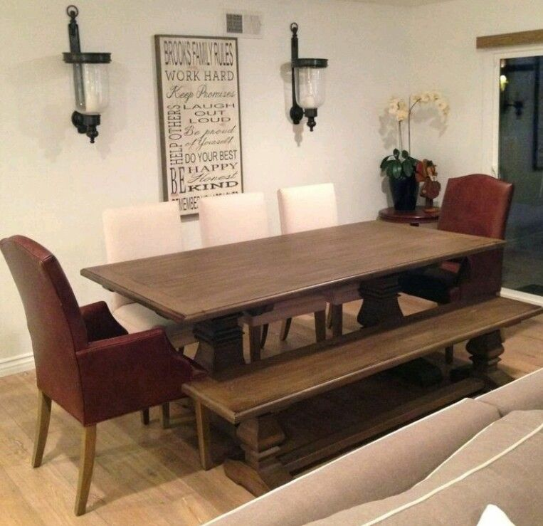 Custom Trestle Reclaimed Wood Dining Table Benches And Chairs Amazing Custom Dining Room Tables Design Ideas