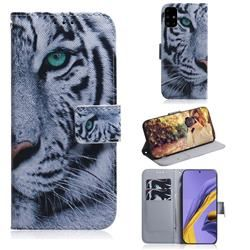 White Tiger PU Leather Wallet Case for Samsung Galaxy A51 - Galaxy A51 Cases - Guuds