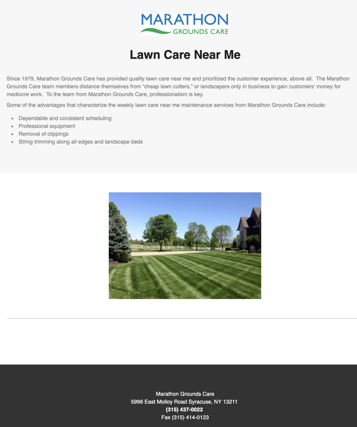 Looking For Lawn Care Near Me Connect With Marathon Grounds Care Today Lawn Care Lawn Grounds