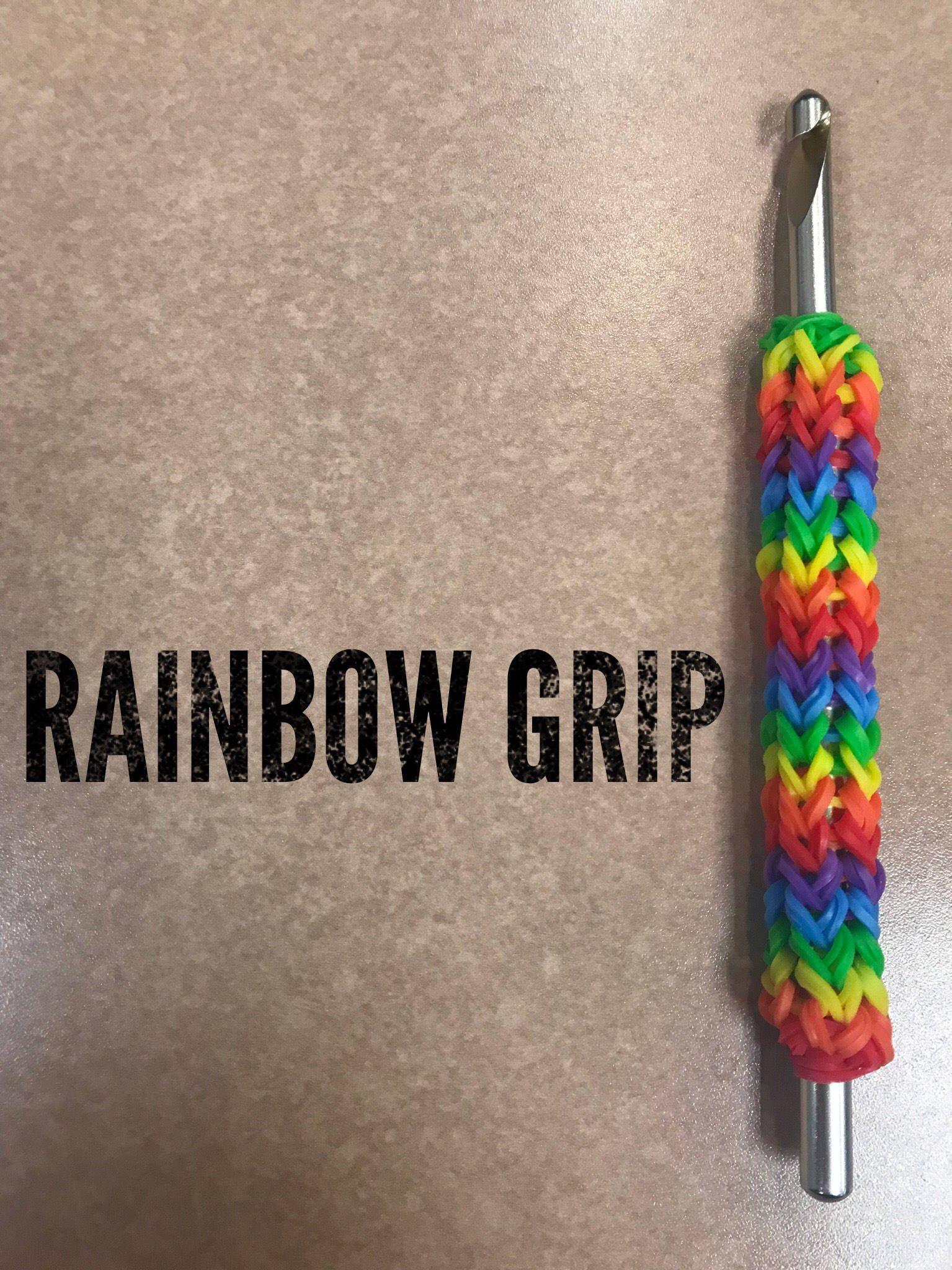 Rainbow Crochet Hook Grip By Sixteenchains On Etsy Https Www