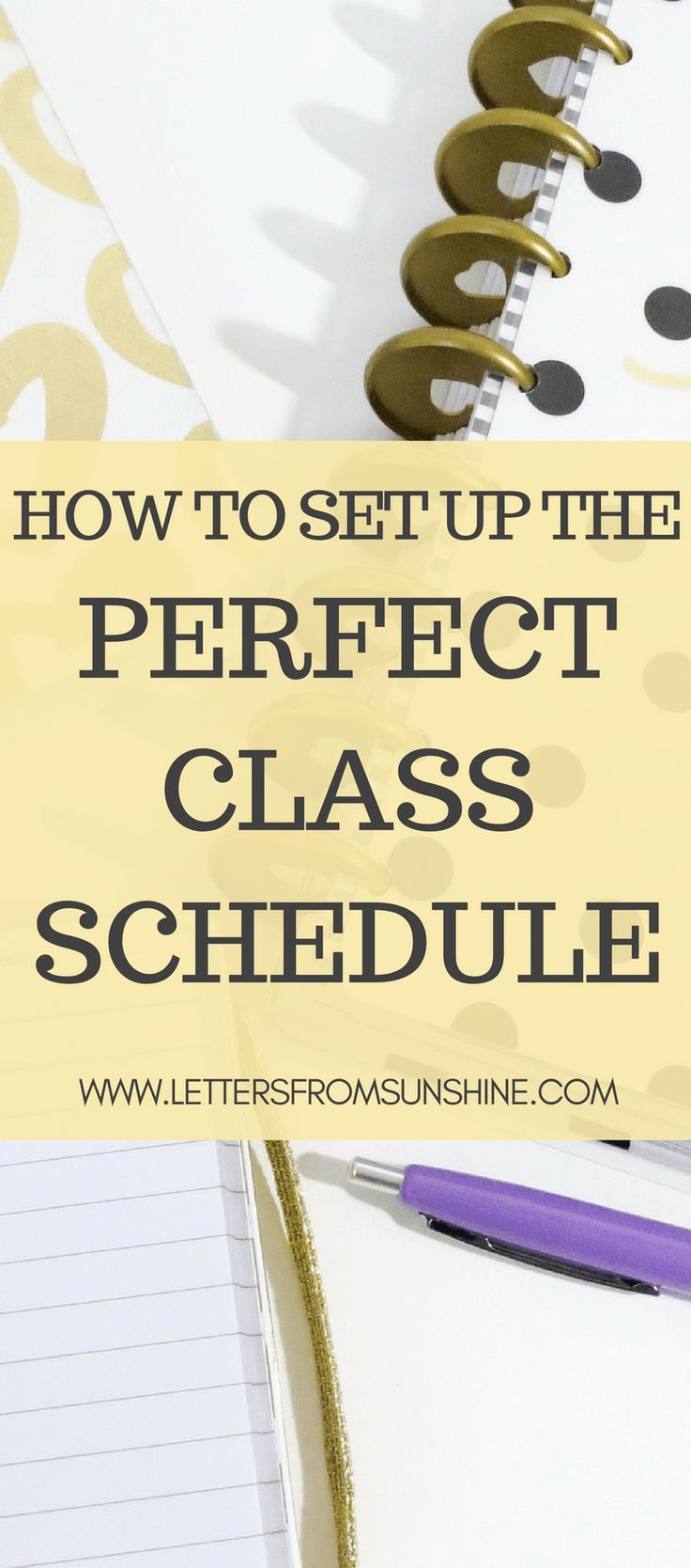 how to set up the perfect class schedule college life pinterest