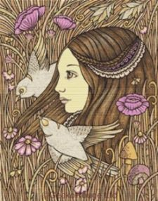 Gaia's Daughter Cross Stitch Kit - Anita Inverarity