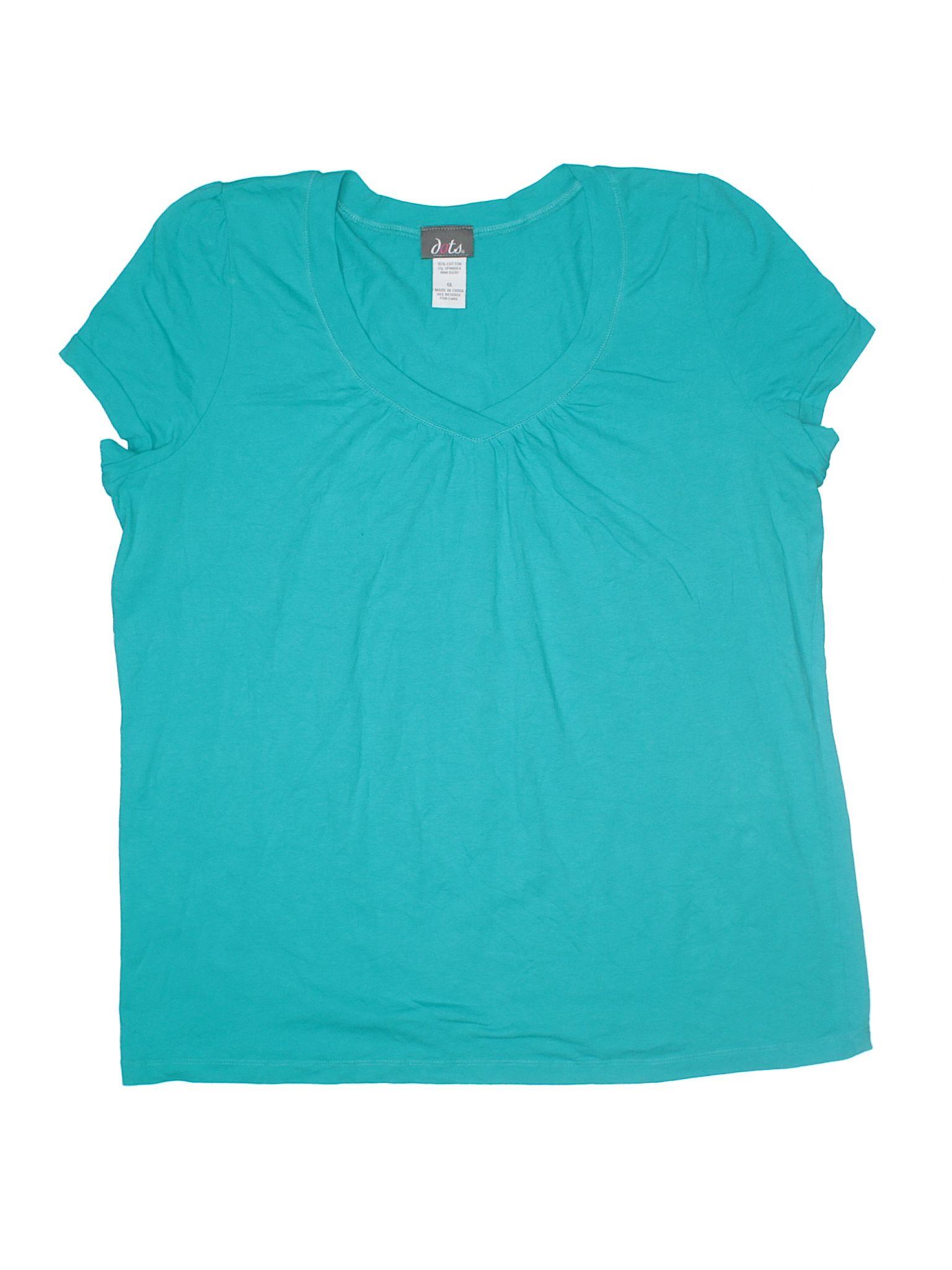 Dots Short Sleeve T Shirt Size 1800 Blue Womens Tops