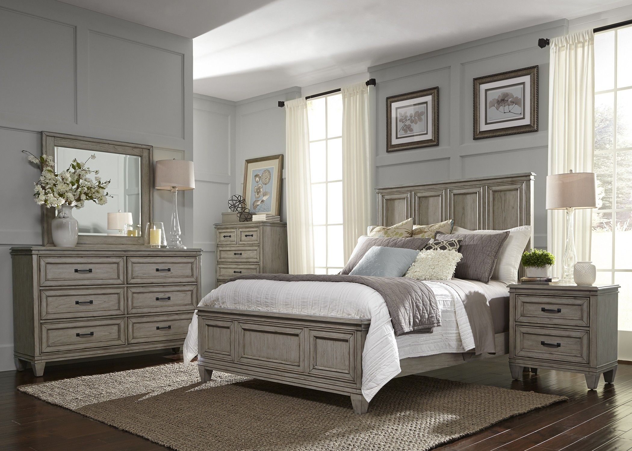 Awesome Grayton Grove Driftwood Panel Bedroom Set