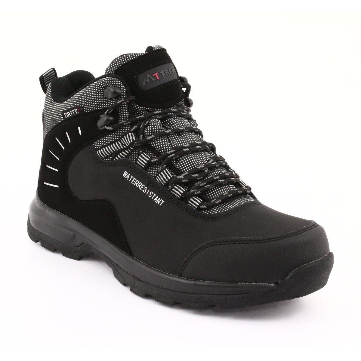 Trekkingowe Wiazane Czarne Mttrek 011 Trekking Shoes Hiking Boots Natural Leather