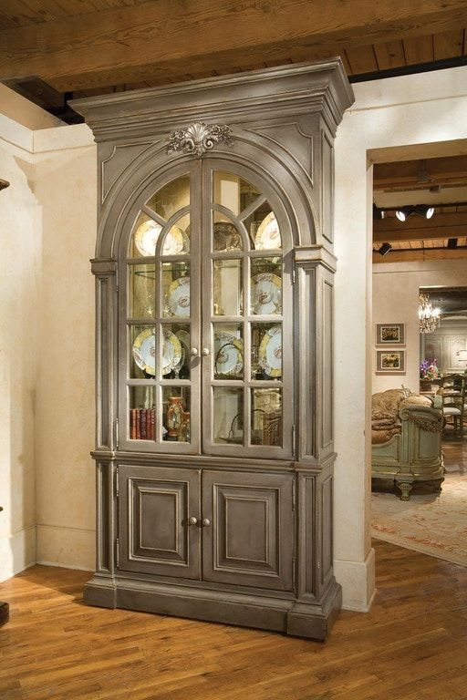 Glass Showcase Designs For Living Room: Habersham Furniture Shantelle Display Case With Mirrored