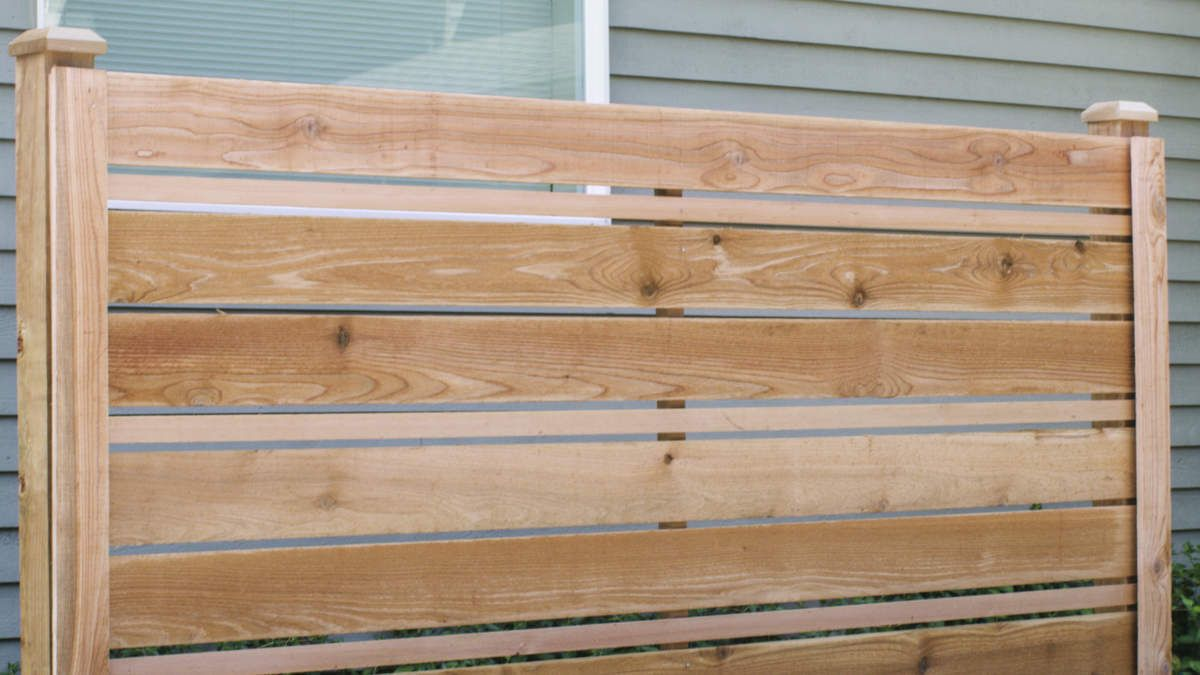 How to Build a DIY Horizontal Fence in 2020 Building a