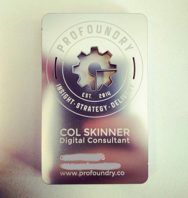 My new metal business cards มรปภาพ