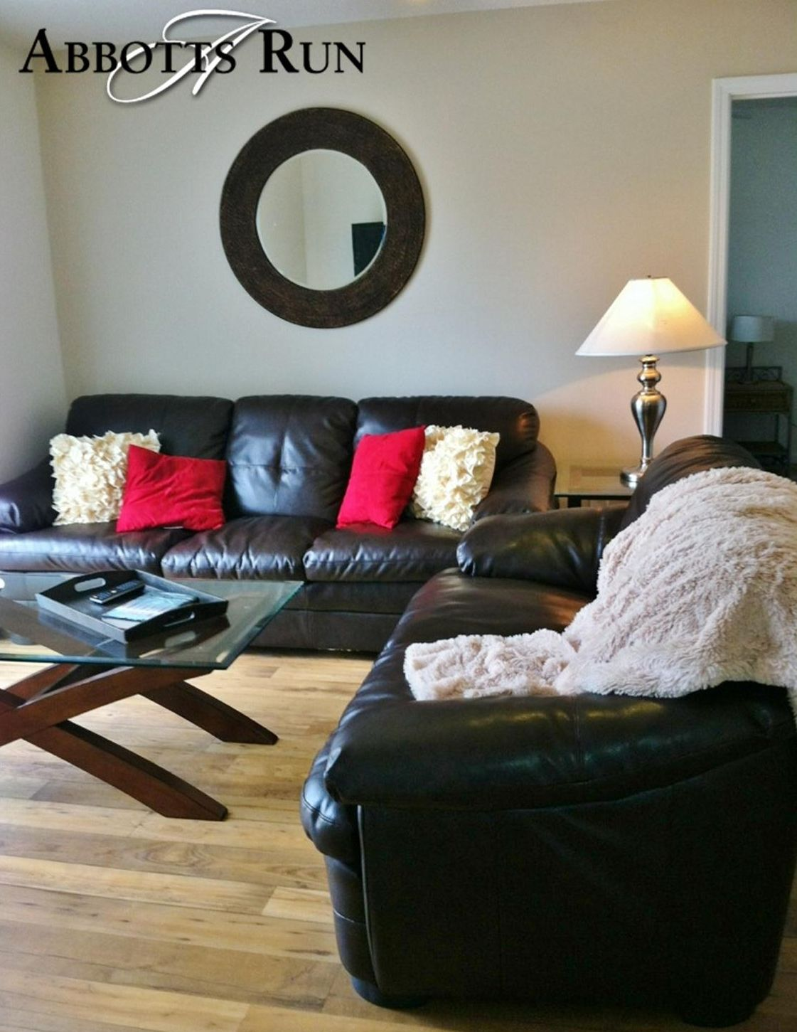 living room decor warm red brown  cream scheme with
