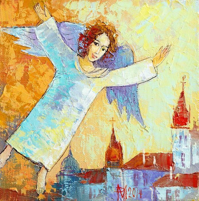 Anna Art Aniol Stroz Rymarczyk Ikona Obraz 4259825806 Oficjalne Archiwum Allegro Painting Art Angel