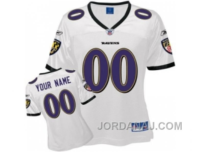 f000da823 www.jordanaj.com ... CUSTOMIZED BALTIMORE RAVENS JERSEY WOMEN WHITE ...