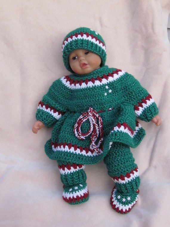 Handmade baby Holiday crochet dress set/Newborn Baby Set ...