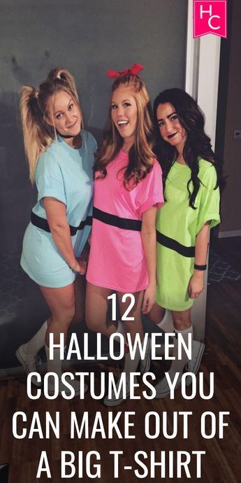 12 Halloween Costumes You Can Make Out of a Big T-Shirt Halloween