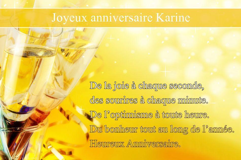 Fabuleux Résultats de recherche d'images pour « Bon anniversaire Karine  OJ14