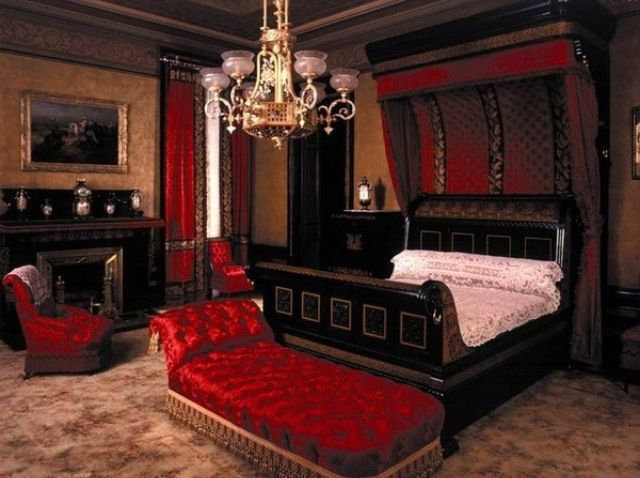 Romantic Red Bedroom Looks Like An Anne Rice Novel Gothic