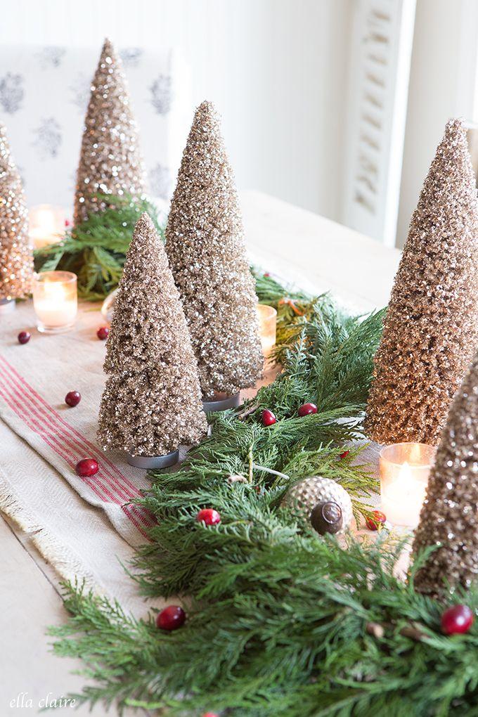Vintage Bottlebrush Tree Tablescape Bottlebrush, Holidays and