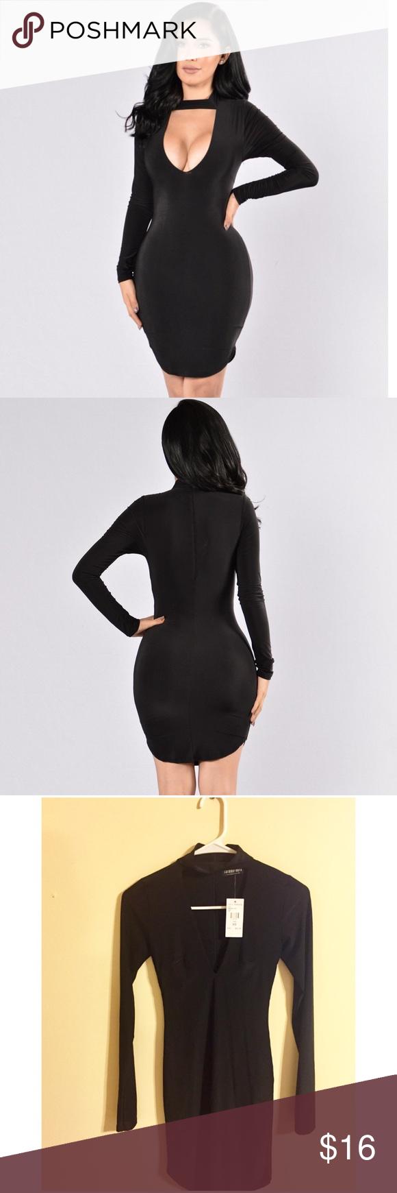 Nwt fashion nova black long sleeve dress nwt in my posh picks