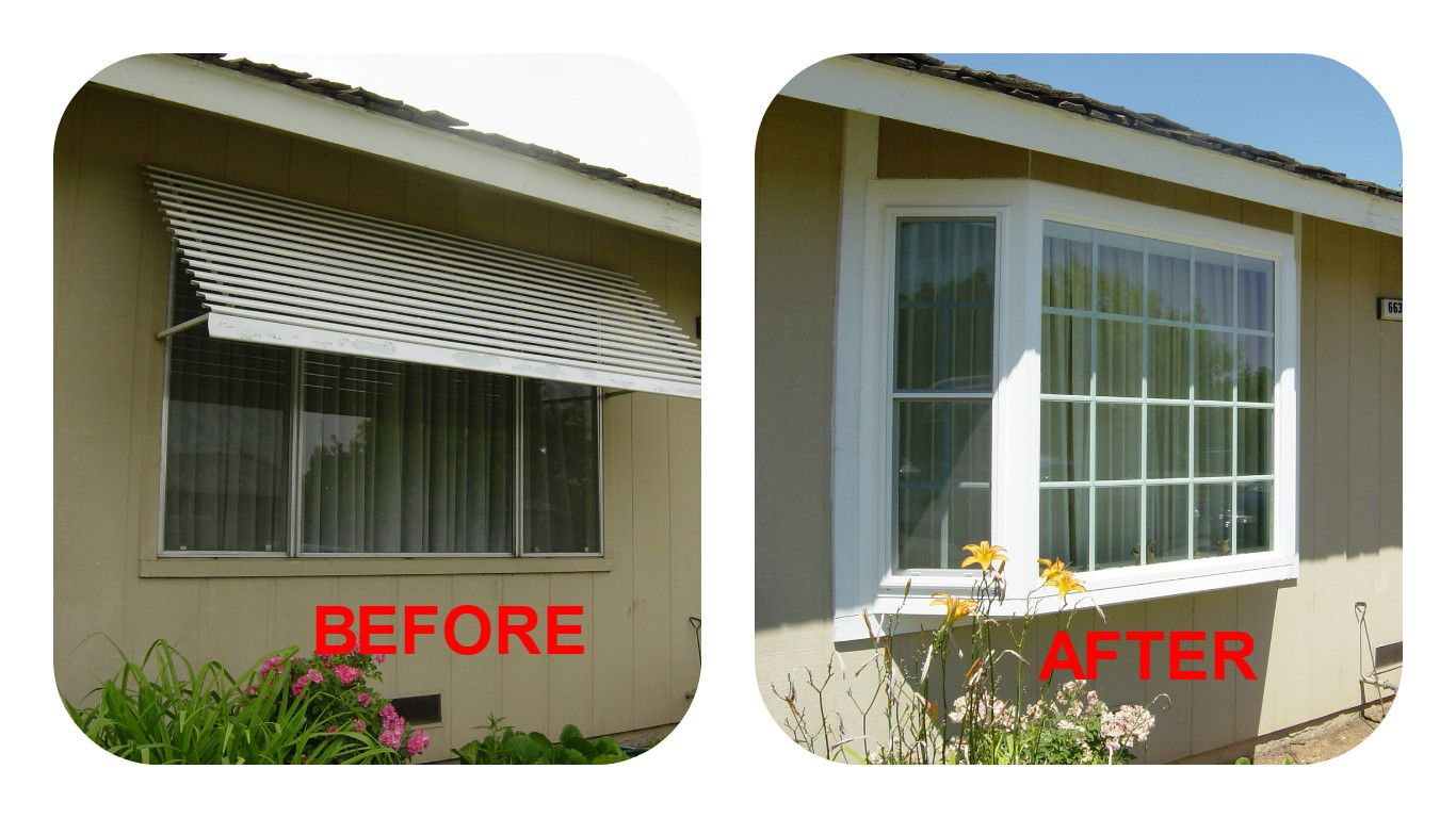 Before And After Construction And Window Replacement Done By Jz Construction 559 324 0555 Window Replacement Replace Door Windows