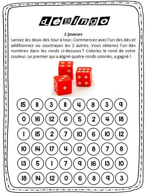 D bingo jeux de calcul mental jeux de calcul et calcul - Calcul mental tables de multiplication ...