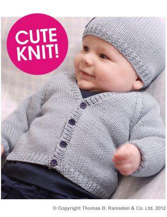 Eight by Six: free knitting pattern - baby cardigan Twilleys Freedom ...