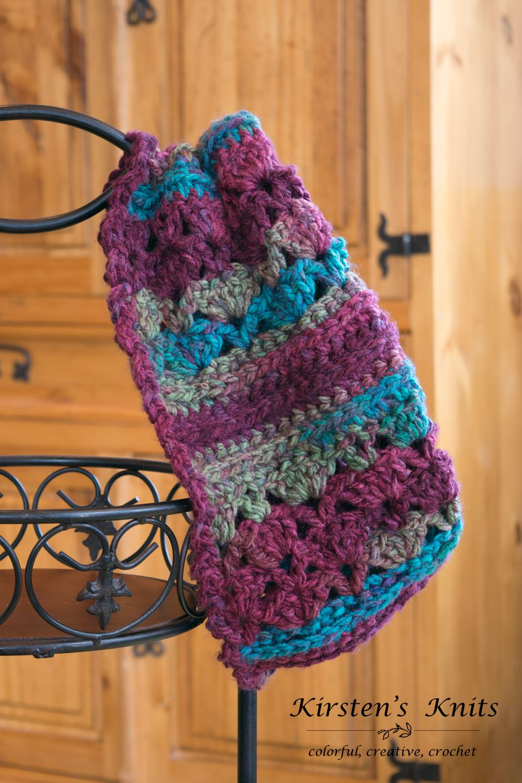 Pattern - Mulberry Lace Chunky Cowl | Crochet shawls