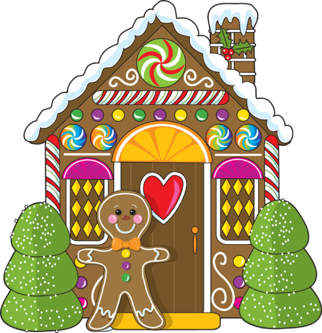 christmas clip art for the holiday season gingerbread house chas rh pinterest co uk