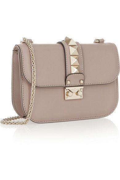cb478d60b8d Valentino - Valentino Garavani Lock Small Leather Shoulder Bag - Blush in  2019 | Handbags | Valentino bags, Fashion bags, Bags