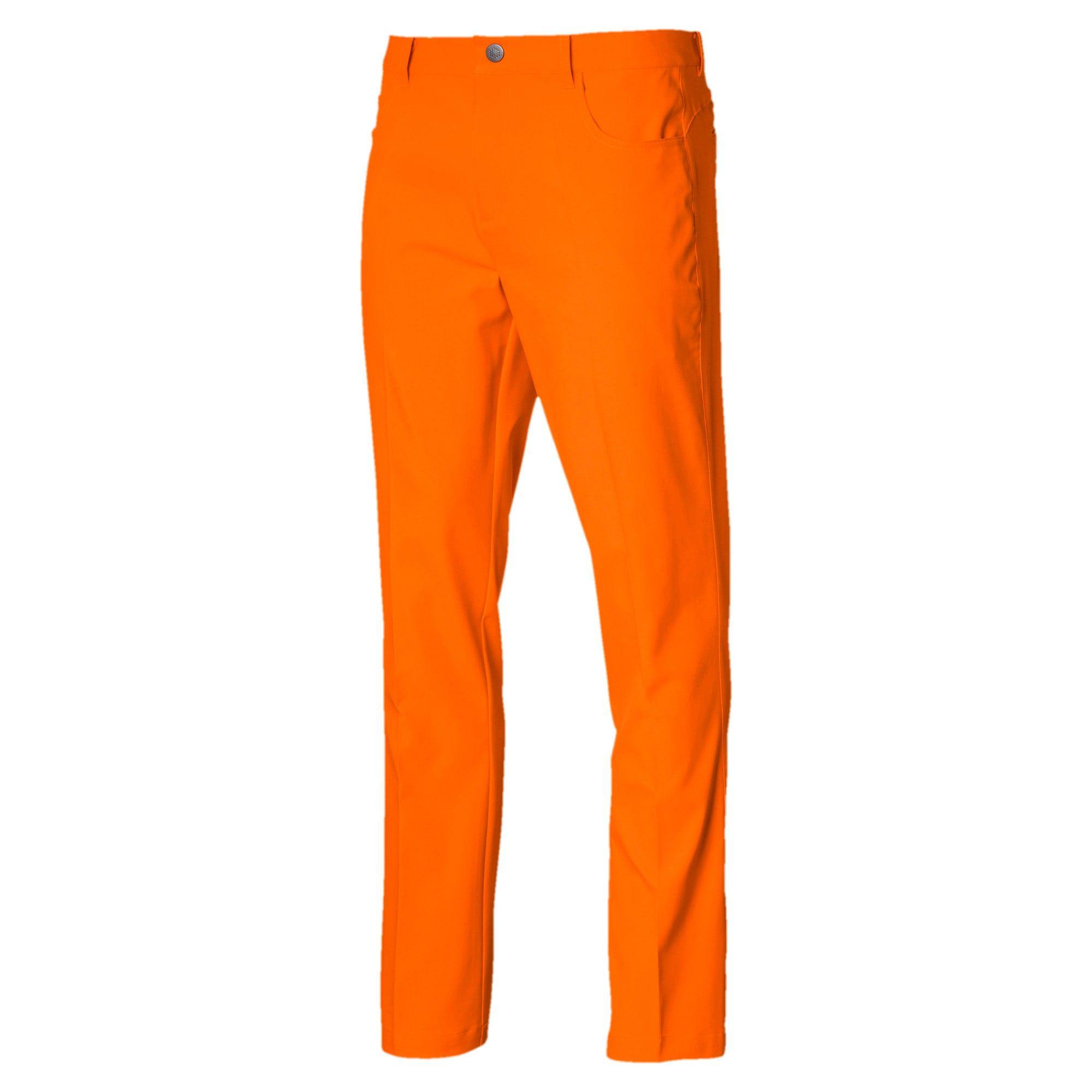 PUMA Pantalon tissé Jackpot 5 Pocket Golf pour Homme, Orange, Taille 30/32