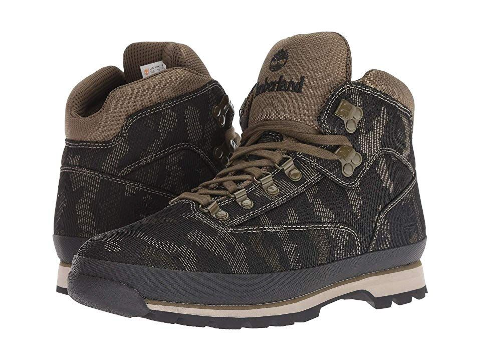 Timberland Euro Hiker Fabric Men s Hiking Boots Black Camo Fabric ... e879606e4