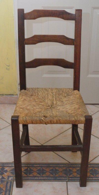 Renovation De Chaise 2 Chaise Chaise Paille Decor Diy