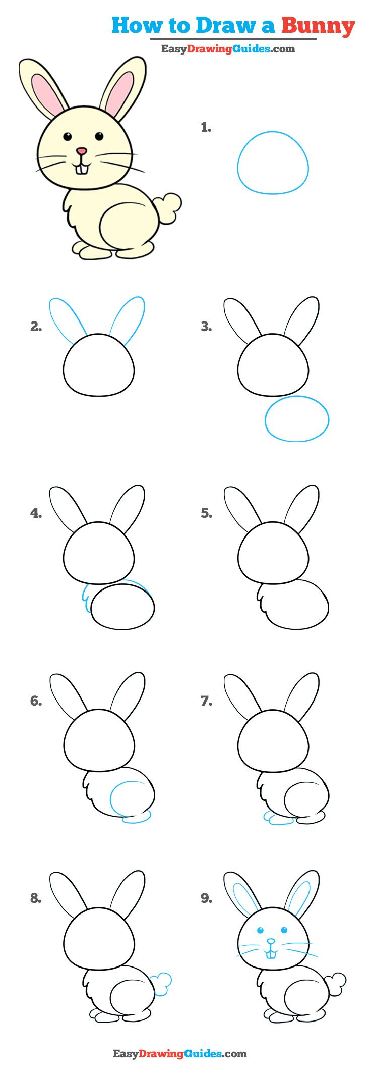 Uncategorized How To Draw A Rabbit For Kids learn how to draw with easy step by guides drawing an bunny tutorial