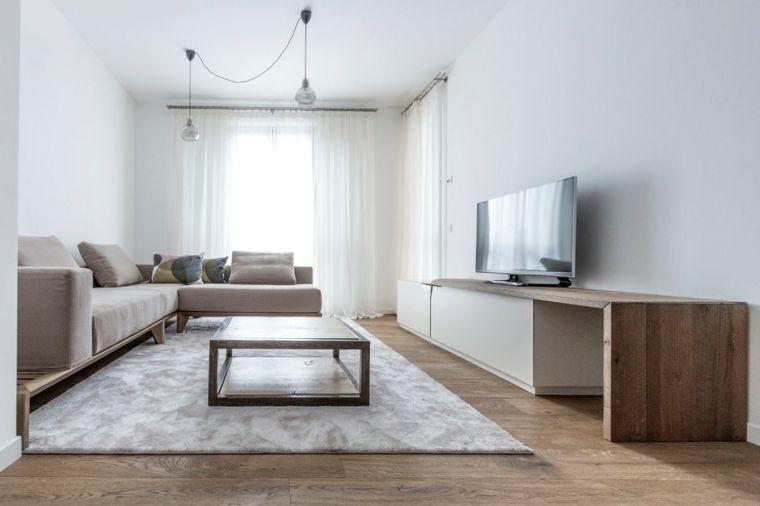 Mobili soggiorno moderni di legno nella tonalità di colore chiaro ...
