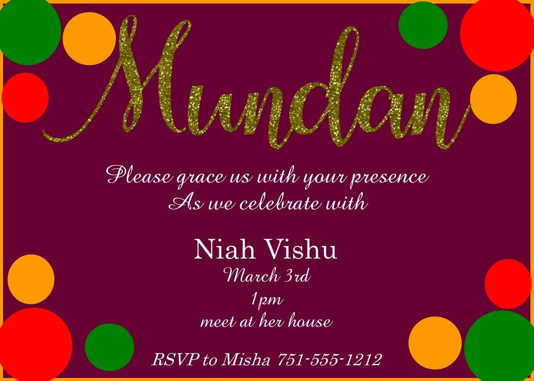 Happy Mundan Invitations Invitation Card Maker Online Invitation Card Free Invitation Cards
