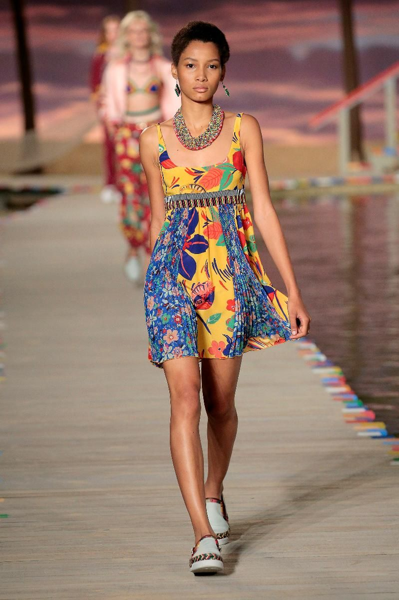 7e8e493a8120 Tommy Hilfiger Women's - Runway - NYFW Spring '16: A model walks the runway  wearing Tommy Hilfiger Women's Spring 2016 during New York Fashion Week:  The ...