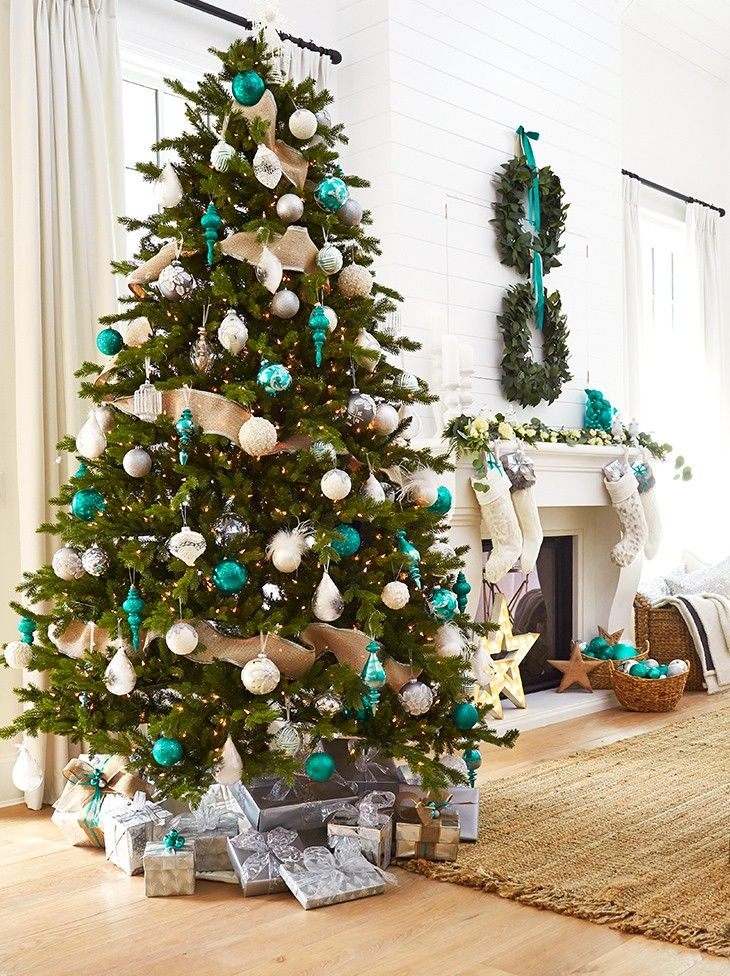 Home For The Holidays Teal Christmas Tree Silver Christmas Tree Teal Christmas