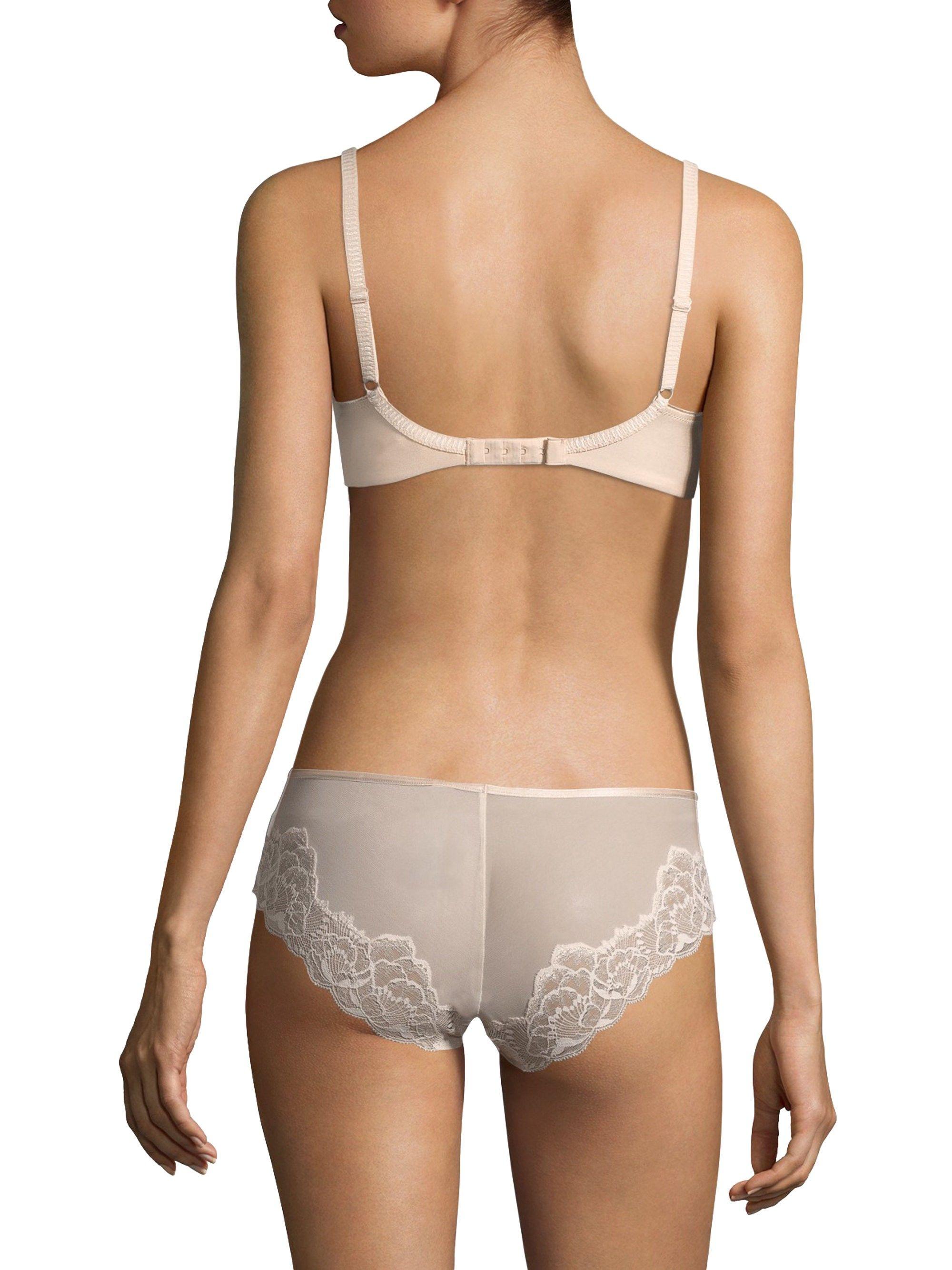 fc2924703184b Chantelle Orangerie Lace Plunge Bra - Misty Grey Multi 30 E