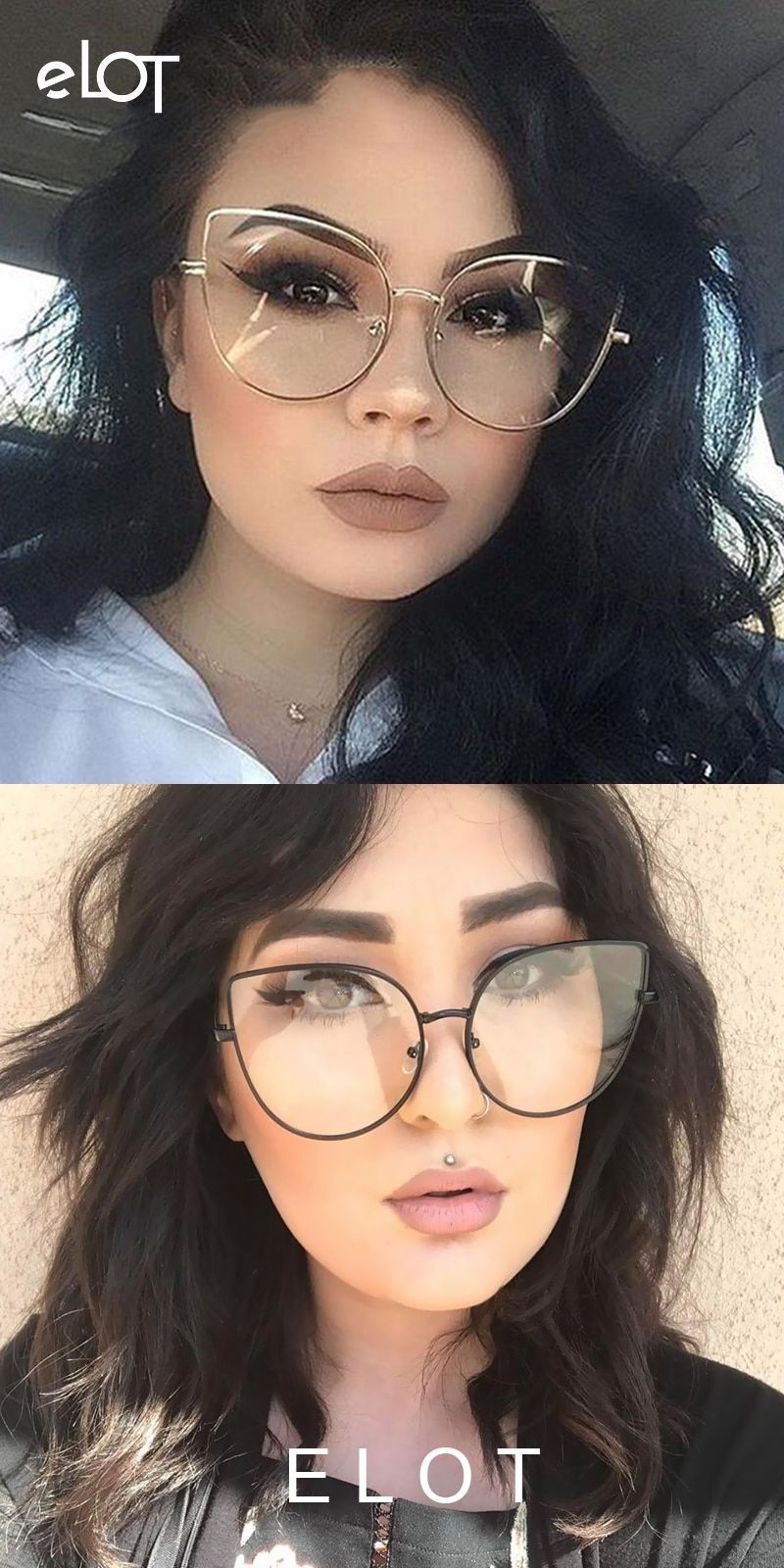 14eea7a82a Vintage fashion ladies cat eye glasses women new gold frame optical  eyeglasses brand designer big glasses for female uv400  eyewear   accessories  frames ...