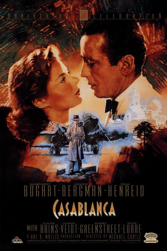 Casablanca 27x40 Movie Poster (1942)   Pinterest