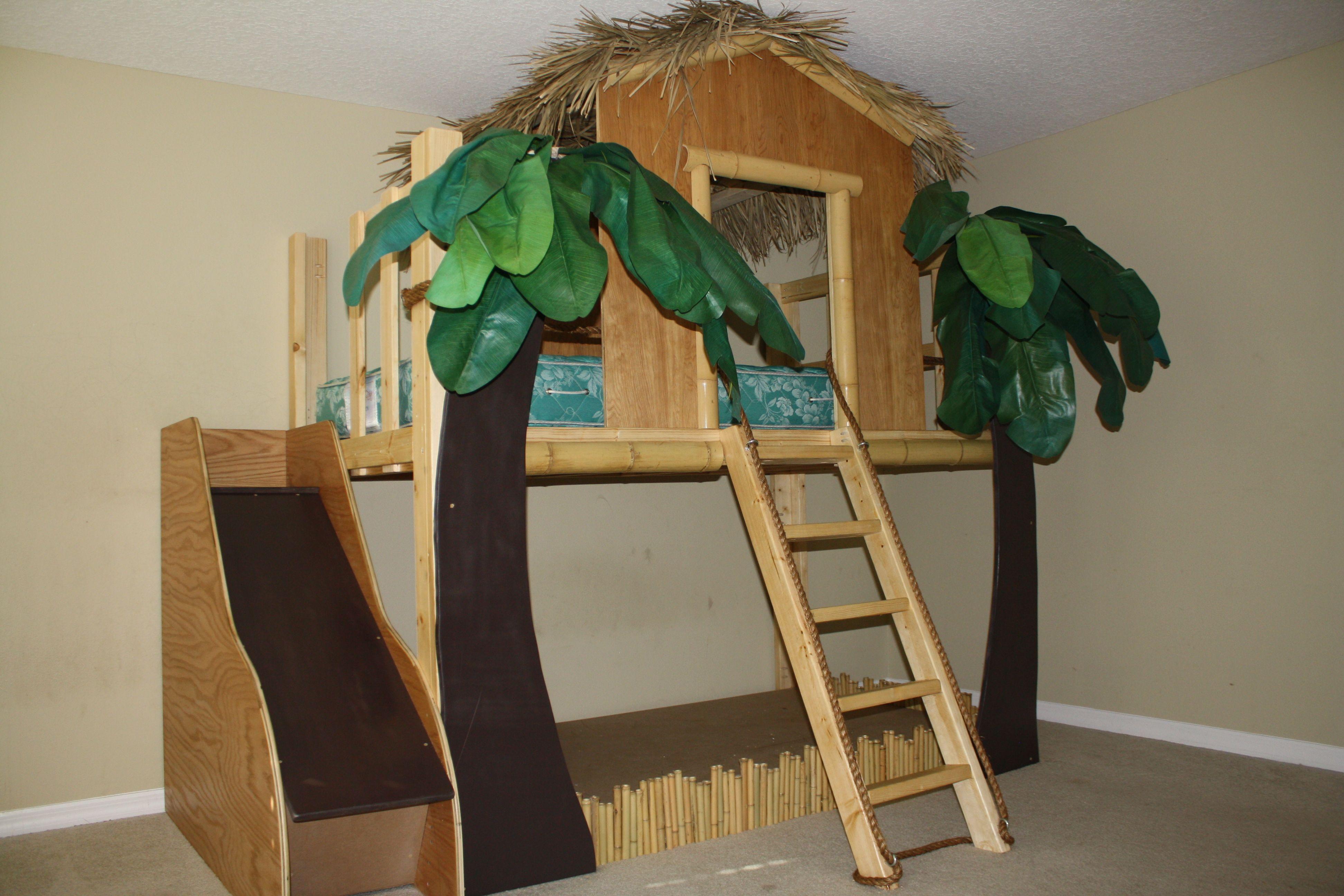 Surf Shack Jungle Theme Tiki Hut Loft Bed Spots 4 Tots