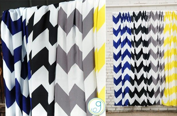 Curtains Ideas chevron curtains blue : FREE SHIPPING Two Chevron Curtain Panels - 4 Colors! 66% off at ...